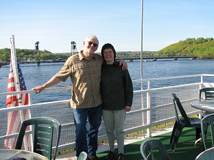 Norm and Julie on the St.Croix river